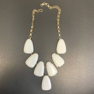 Kendra Scott Harlow necklace in white and gold
